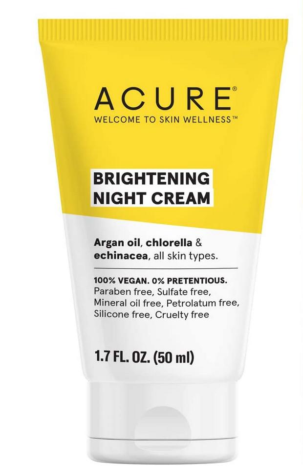Acure Brightening night cream vegana