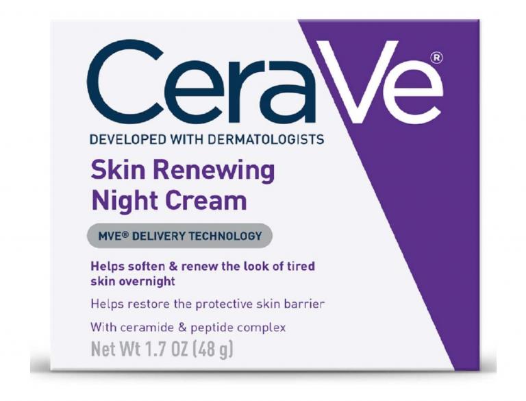 CeraVe renewing night cream con niacinamida