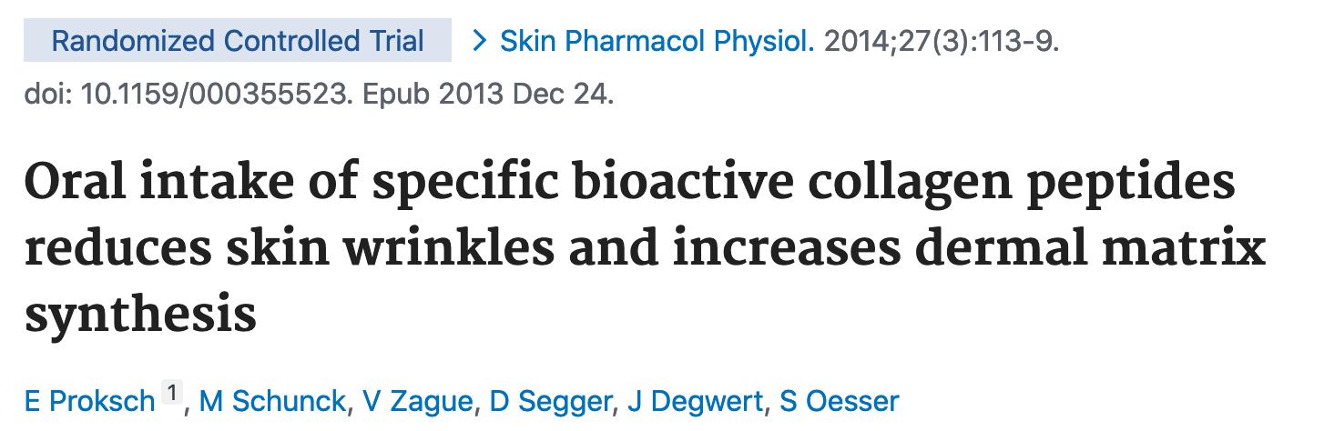 estudio clínico, beneficio del colágeno hidrolizado