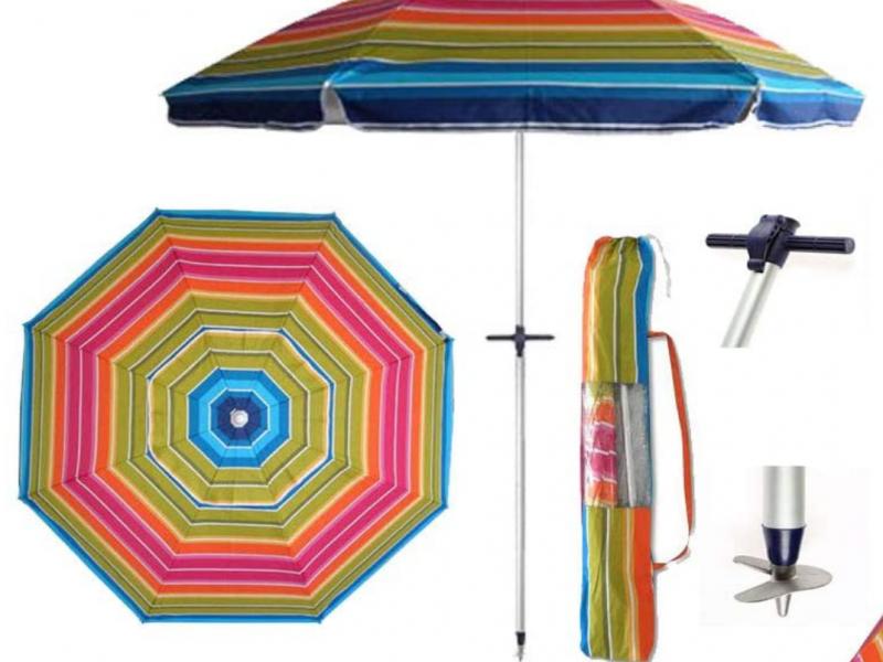 Sombrilla de playa con proteccion UV
