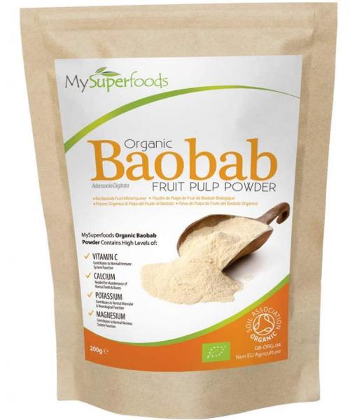 baobab africano seco en polvo